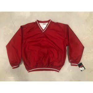 Classic Red Rawling Large Pull Over Windbreaker L